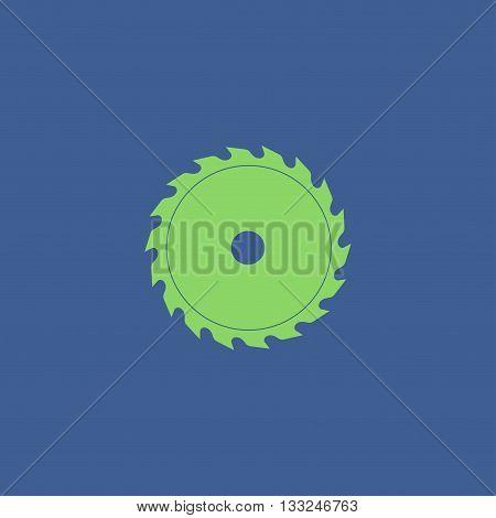 Circular saw blade. Concept illustration for design.