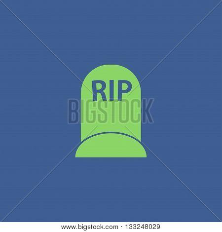 Grave Icon. Vector Concept Illustration For Design