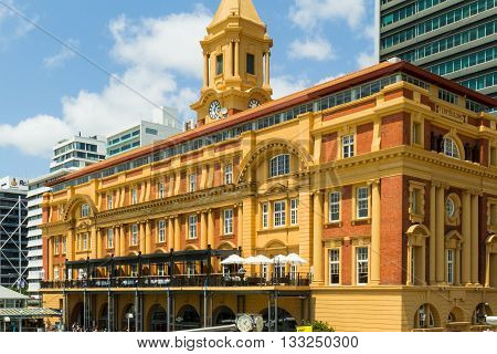 Ferry terminal building in Auckland New Zealand