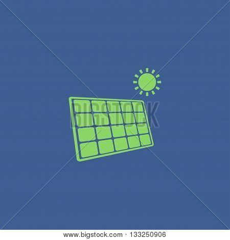 Solar Energy Panel. Modern Design Flat Style.