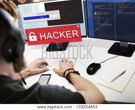 Hacker Cyber Crime Criminal Computer Concept