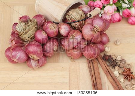 shallot - asia red onion for at cooking