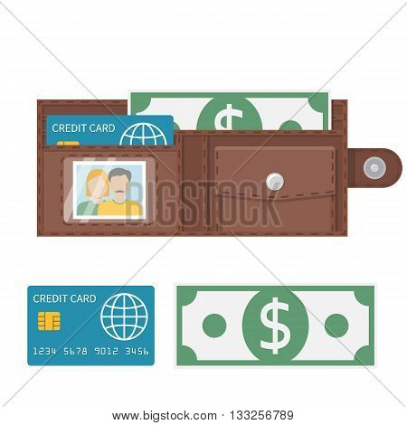 Open Wallet Vector