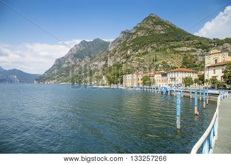 Scenic View Of Lake Iseo In Lombardy, Italy