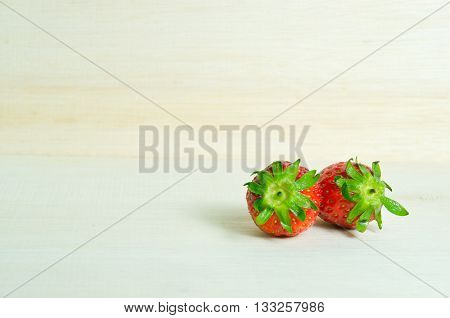 Strawberry double with flash filled (Other names are Fragaria strawberry Fragaria ananassa)