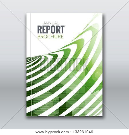 Cover Report Business Colorful Green Stripes Triangle Hexagonal Polygonal Geometric pattern Design Background, cover magazine, Brochure Book Cover Template, vector illustration.