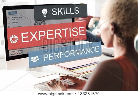 Expersite Skills Performance Business Abilities Concept