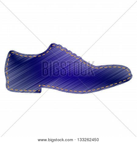 Men Shoes sign. Jeans style icon on white background.