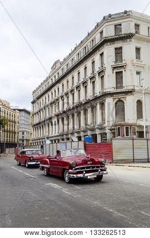 HAVANA - NOVEMBER 29: Street of Old Havana on 29 November 2015 in Havana, Cuba.