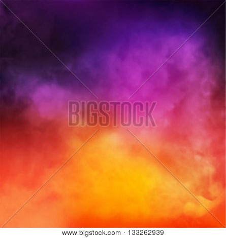 Abstract Vector Colorful Smoky Background design template
