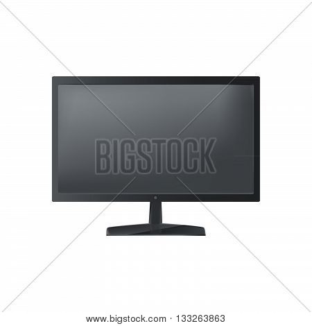Isolated Object. Plasma Tv On A White Background. Realistic Object.