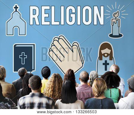 Religion Faith Believe Belief Praying Religion Concept