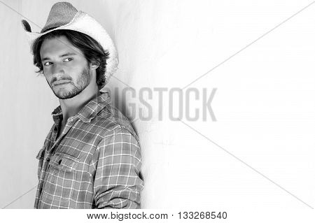 Serious Man With Cowboy Hat