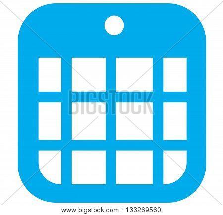 Blue icon vector illustrations of a calendar