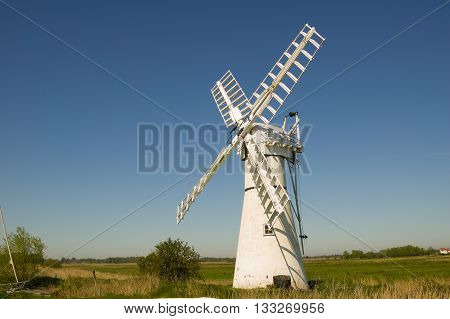 Thurne wind pump on Norfolk Broads Norfolk
