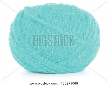 Clew of yarn braided skein isolated on white background