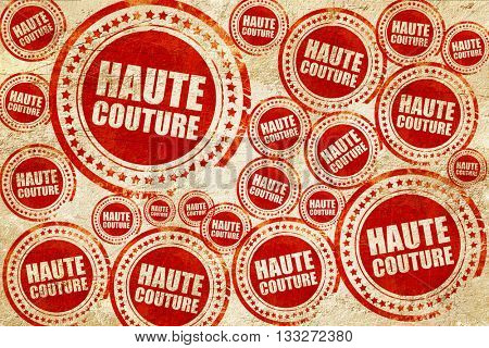 couture, red stamp on a grunge paper texture