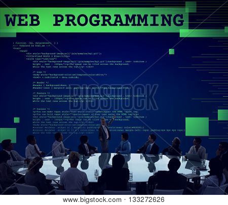 Web Programming Software Developer Technology Concept