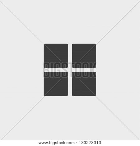 solid table sort icon in a flat design in black color. Vector illustration eps10