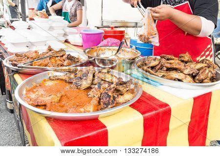 Street Food Bazaar In Malaysia For Iftar During Ramadan Fasting