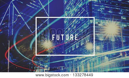 Future Forecast Time Ahead the Way Forward Progress Concept
