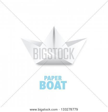 Paper boat - graphic design element