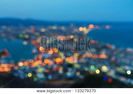 Blurred Abstract View Of Mount Hakodate