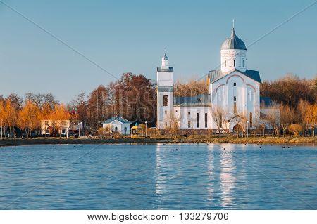 St. Alexander Nevsky Church in Gomel, Belarus. Orthodox Church.