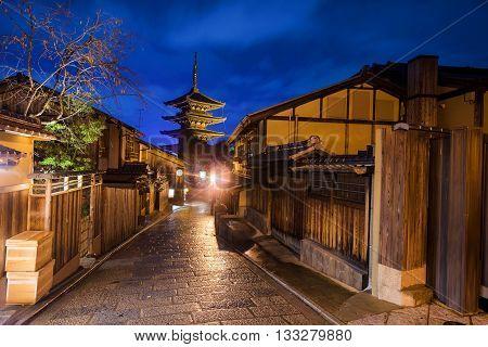 Yasaka Pagoda And Japanese Old Town, Kyoto