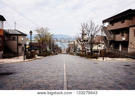 Hashiman Zaka Slope At Motomachi, Hakodate