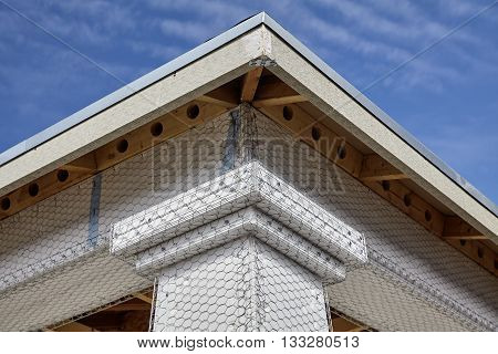 Home Building Industry House Beam And Column Stucco Prep Detail