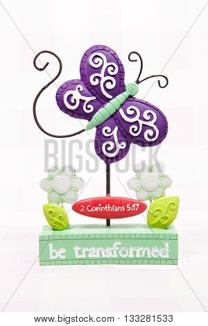 A butterfly decoration for the Easter holiday