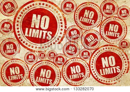 no limits, red stamp on a grunge paper texture