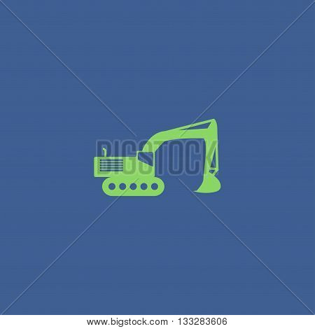 Excavator icon. Vector concept illustration for design.