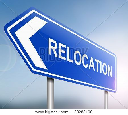 Relocation Sign Concept.
