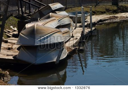 Metal Old-Fashioned Row-Boats