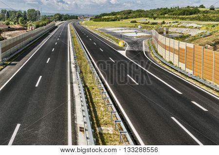 New modern highway