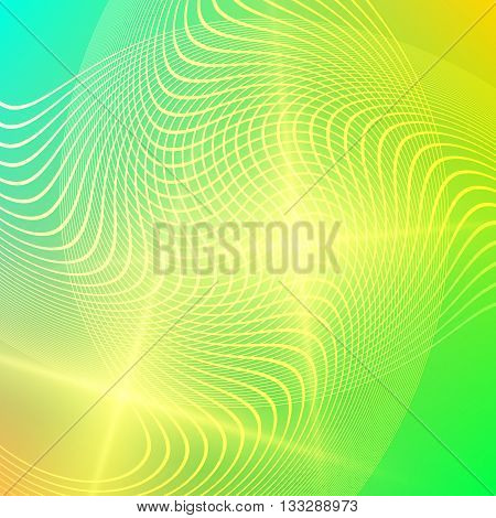 Summer green organic background with rays sun light. Hot with space for your message. Vector illustration EPS 10 for design presentation brochure layout page cover book or magazine team farming