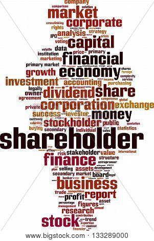Shareholder word cloud concept. Vector illustration on white