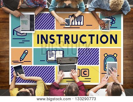 Instruction Knowledge Education Training Coaching Concept