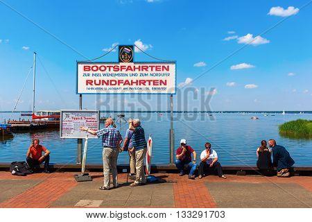 Lake View At Steinhuder Meer In Lower Saxony, Germany