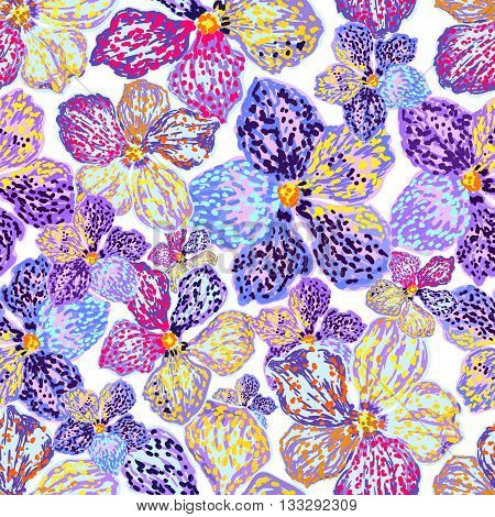 Vector seamless floral background. Floral background with purple flowers. Seamless pattern. Can be used for wallpaper pattern fills web page background surface textures textile print.