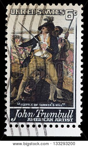 United States Used Postage Stamp Showing The Artist John Trumbull