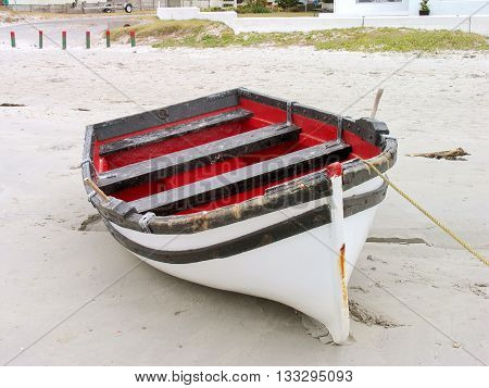 Boat On Beach, Cape Town South Africa 01