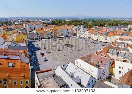 2015-07-04 - Ceske Budejovice City, Czech Republic - Namesti Premysla Otakara Ii. Square In Ceske Bu