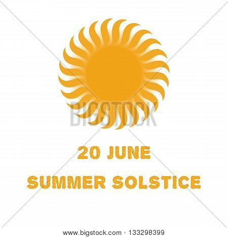 Emblem or poster of the sun for a holiday of day of a solstice