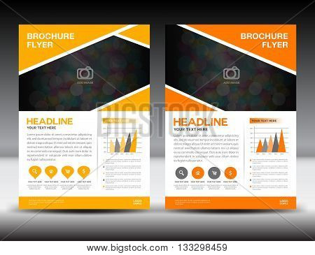 Orange business Orange brochure flyer design layout template in A4 size