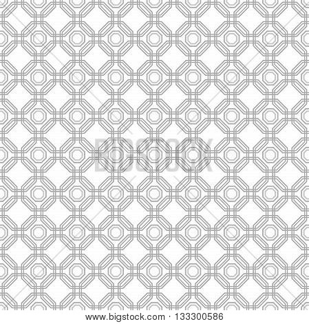 Geometric fine abstract background. Seamless modern pattern with dark and light gray octagons