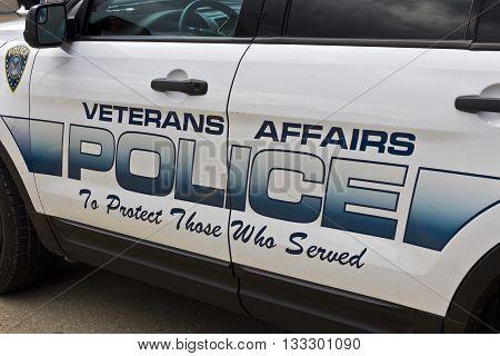 Indianapolis - Circa June 2016: Veterans Affairs Police at the Roudebush VA Medical Center I