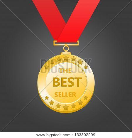 3D rendering gold medal - best seller